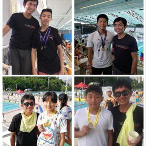 恭喜本會泳員在第二組第三節及第三組第二節分齡游泳賽獲得獎項