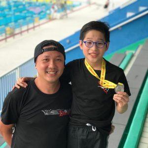 恭賀泳員李政澤於D2長池分齡游泳比賽50米蛙泳獲得亞軍