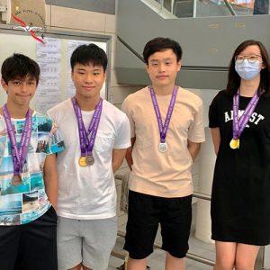 恭賀本會泳員在香港業餘游泳總會舉辦的第三組長池分齡游泳比賽(第一節甲部)取得佳績。